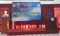 63 thí sinh, thuộc 3 khối Tiểu học, Trung học cơ sở và Trung học phổ thông trên địa bàn tỉnh đã tham gia hội thi tin học trẻ lần thứ 24 năm 2018, do Tỉnh Đoàn phối hợp với Sở Giáo dục và Đào tạo tỉnh tổ chức vào sáng nay tại TP Nha Trang.