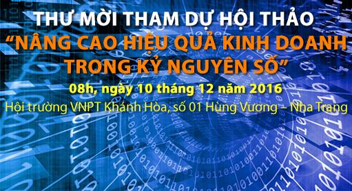 """HỘI THẢO """"NÂNG CAO HIỆU QUẢ KINH DOANH TRONG KỶ NGUYÊN SỐ"""