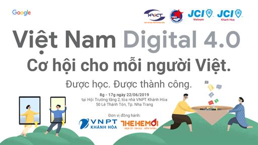 Chương trình đào tạo Bệ phóng Việt Nam Digital 4.0 cùng Google và JCI Khánh Hòa
